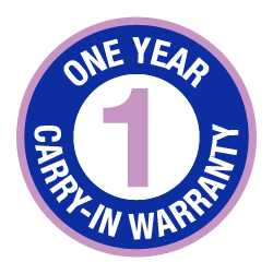 1 Year Carry-in Warranty logo