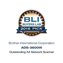 BLi Buyers Lab Pick Award 2016 ADS3600
