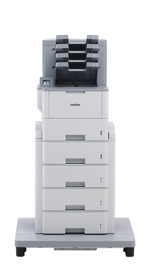 HL-L6400DW mono laser printer with tower tray