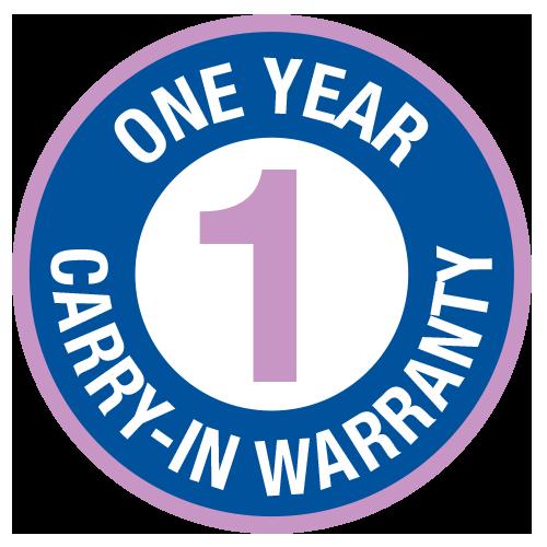 1-Year Warranty Seal - Carry In