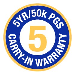 5 Year-50k pages Warranty Logo