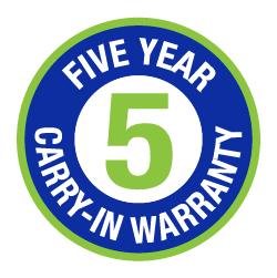5 Year Carry-in Warranty Logo