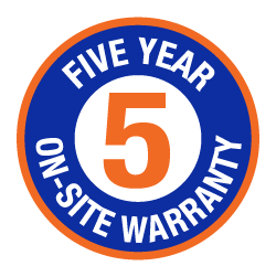 5 Year On-site Warranty Icon
