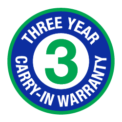 3 Year Carry-in Warranty Logo