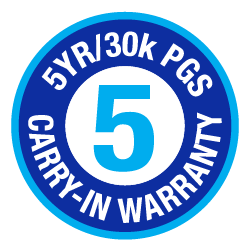 5 Year-30k Pgs warranty logo